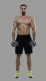 Großes Training Porträt des muskulösen Berufsbodybuilders und Lizenzfreie Stockbilder