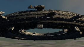 Scifi-UFO Stockbild