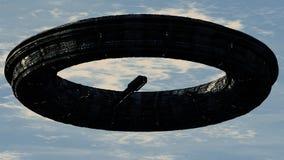 Scifi-UFO Lizenzfreies Stockfoto