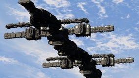 Scifi-UFO Stockfoto