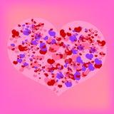 Großes Valentinsgrußinneres lizenzfreie abbildung