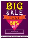 Großes Verkaufs-Flieger-, Fahnen- oder Plakatdesign Lizenzfreie Stockbilder
