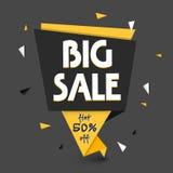 Großes Verkaufs-Papier-Tag- oder Fahnendesign Stockbilder
