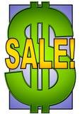 Großes Verkaufs-Zeichen-Dollar-Symbol lizenzfreies stockbild