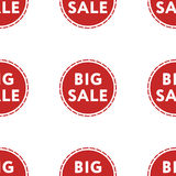 Großes Verkaufsrabattmuster auf weißer Hintergrundisolierung Lizenzfreies Stockbild