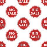 Großes Verkaufsrabattmuster auf weißer Hintergrundisolierung Stockbild