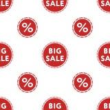 Großes Verkaufsrabattmuster auf weißer Hintergrundisolierung Stockfoto