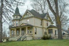 Großes viktorianisches haus- Richmond, Illinois stockfoto