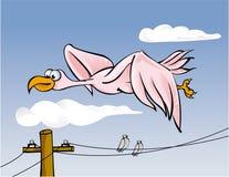 Großes Vogelflugwesen lizenzfreie abbildung