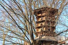 Großes Vogelhaus Stockbild