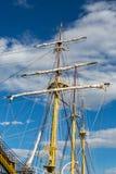 Großes weißes Schiff in Montenegro in Tivat Lizenzfreies Stockfoto
