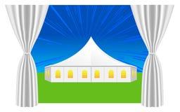 Großes weißes Zelt Stockfoto