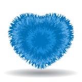 Großes weiches blaues Herz Stockfotos