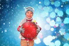 Großes Weihnachtsglück Lizenzfreie Stockfotografie