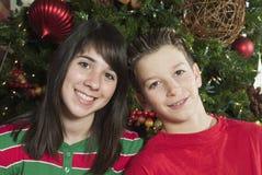Großes Weihnachtslächeln stockfotografie