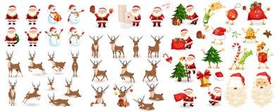 Großes Weihnachtsset lizenzfreies stockfoto