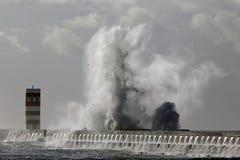 Großes Wellen-Spritzen Stockbild