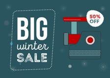 Großes Winterschlussverkaufplakat stockfotos