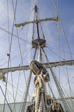 Großmast- und Schiffsmanipulieren Lizenzfreie Stockfotografie