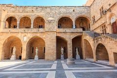 Großmeister-Palast in Rhodos, Griechenland Lizenzfreie Stockbilder