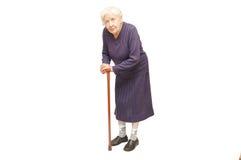 Großmutter, die einen Stock anhält Lizenzfreie Stockfotos