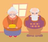 Großmutter, Großvater, vektor abbildung