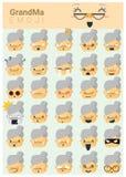 Großmutter imoji Ikonen Stockbild