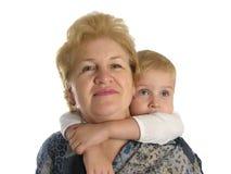 Großmutter mit Jungen 2 Stockbild