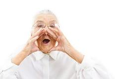 Lustige Großmutter Stockbilder