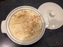 Großmutter-Reis-Pudding Stockfoto