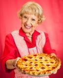 Großmutter-selbst gemachte Kirschtorte Stockfoto