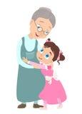 Großmutter und Enkelin lizenzfreie abbildung