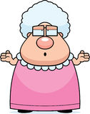 Großmutter verwirrt Lizenzfreie Stockfotos