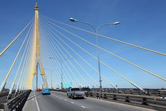 Großriemen Brücke, Rama 8 Lizenzfreie Stockfotos