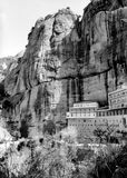GroßSpileo Kloster in Kalavryta, Griechenland Lizenzfreie Stockbilder