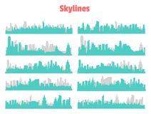 Großstadt-Skyline Lizenzfreie Stockfotos