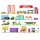 Großstadt-städtische Ikonen eingestellt vektor abbildung