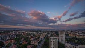 Großstadttag zum Nachtzeitversehen stock video
