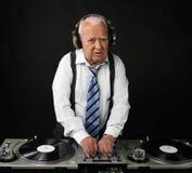 Großvater DJ Stockbild