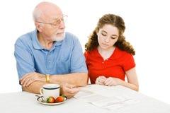 Großvater erklärt Lizenzfreies Stockbild