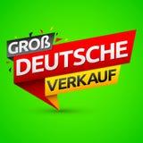 Groß Deutsche Verkauf, немецкий большой перевод продажи бесплатная иллюстрация