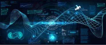 Große Datenalgorithmussichtbarmachung Futuristische Schnittstelle stock abbildung