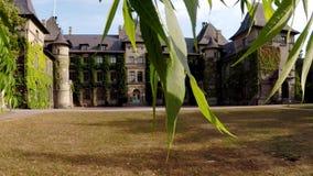 Große, fantastische Villa mit Effekt des lauten Summens stock footage