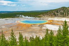 Gro?artiger prismatischer Fr?hling, Yellowstone, Wyoming stockfotos