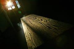 Grão da madeira da tabela Fotografia de Stock