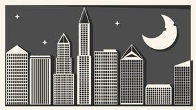 Gro?stadt mit Wolkenkratzer-Vektor-Illustration f?r Ihren Entwurf lizenzfreie abbildung