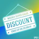 Großartige Rabatt-Verkaufs-Fahne Lokalisiertes hängendes billiges Vektor-Zeichen Design der Illustrations-EPS10 Lizenzfreies Stockfoto