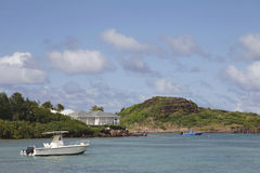 Großartige Sackgassen-Bucht in St Barts, Französische Antillen Lizenzfreie Stockbilder