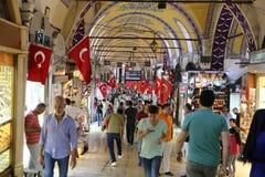 Großartiger Basar in Istanbul Stockbilder
