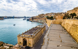 Großartiger Hafen in Valletta Stockfotos